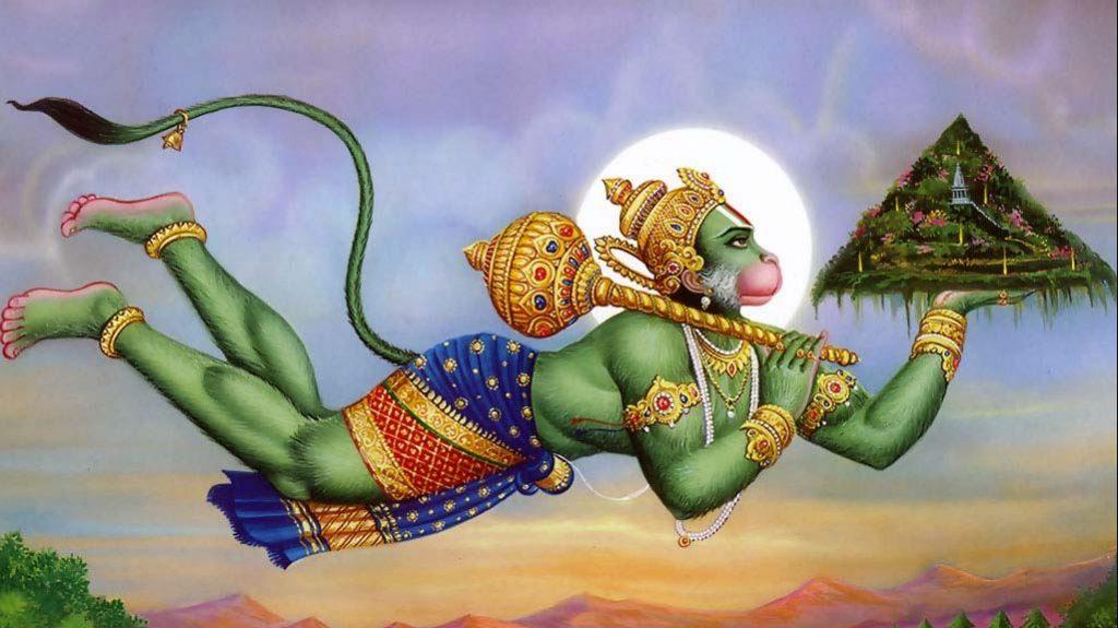 Rámájana eredete India - Hanumán, akit a hit röpít