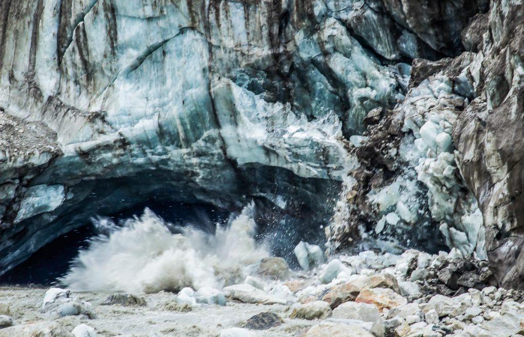 India Gangesz folyó forrása Gangotri Gaumukh